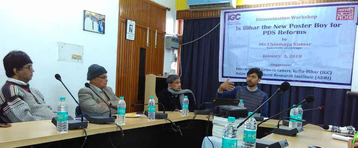 Dissemination Workshop : Is Bihar the New Poster Boy for PDS